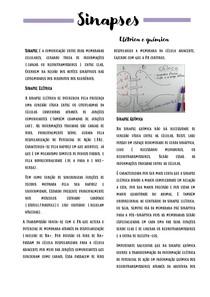 SINAPSES ELÉTRICA E QUIMICA