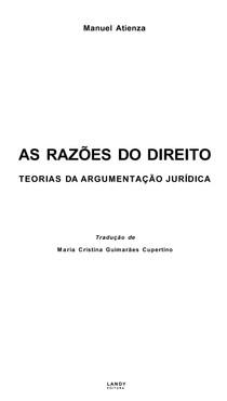 As razoes do direito (Atienza, Manuel)