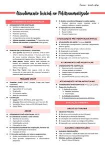 Atendimento inicial ao politraumatizado - Trauma