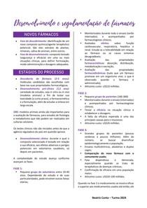 Desenvolvimento e regulamentação dos fármacos