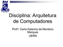Disciplina Arquitetura (Cap 4 - Memória)