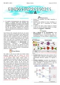 Farmacologia - Imunossupressores