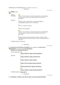 ADMINISTRAÇAO INTERDISCIPLINAR ATIVIDADE TELEAULA II