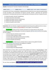 Marcha e Avaliação Funcional - Questão Comentada (Concurso)