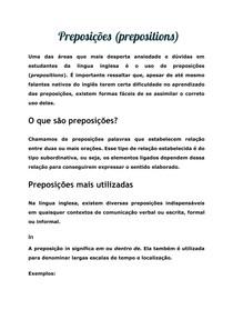Preposições (prepositions)