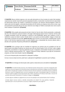 AV1 PROCESSO CIVIL III QUEIMADOS 2020 2
