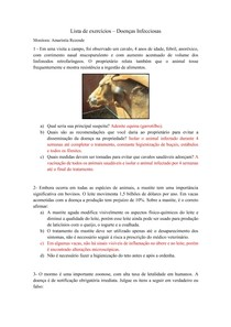 Lista de Exercícios Doenças Infecciosas - 1