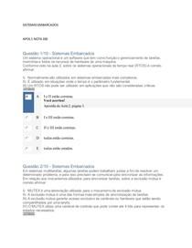 SISTEMAS EMBARCADOS APOL 1 NOTA 100