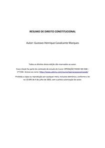 RESUMO COMPLETO DE DIREITO CONSTITUCIONAL - OAB/ GRADUAÇÃO