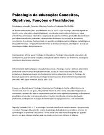 faculdade fael psicologia da educaçao