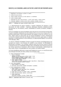 DOENÇAS CEREBELARES GENETICAMENTE DETERMINADAS