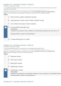 APOL OBJETIVA - LIBERDADE E FILOSOFIA