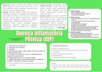 mapa mental - Doença Inflamatória Pelvica (DIP)