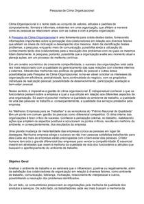 Pesquisa de Clima Organizacional_II_Desenvolvimento_Métricas_