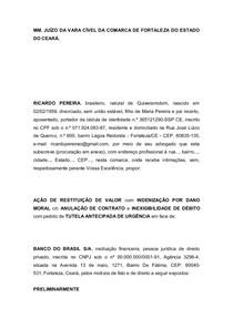 Modelo De Petição Inicial Ação De Restituição Pratica Proc