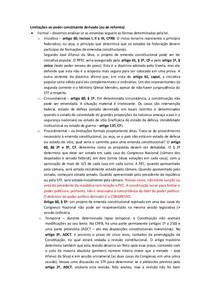 Limitações ao poder constituinte derivado- Thiago Varella