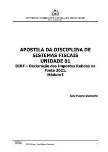 Apostila Sistemas Fiscais - Unidade 01 - Módulo I - DIRF2021