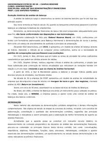 Análise das Demonst Financeiras - APOSTILA  introdução