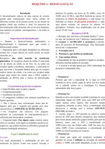 BIOQUÍMICA - BIOSSINALIZAÇÃO
