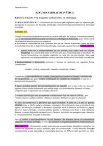 resumo Farmacocinética (Eduardo Dias)