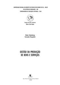 Apostila UNIJUÍ - Gestão da produção de bens e serviços