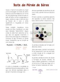 Teste da Pérola de Bórax - Química analítica