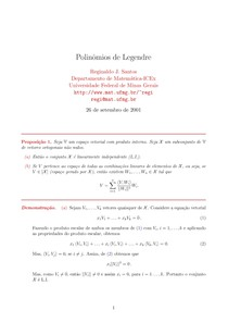 Polinômios de Legendre