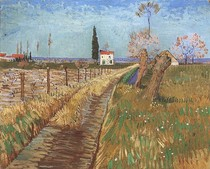 Vincent Willem van Gogh-Path-Through-Campo-com-Willows