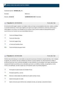 Avaliando Aprendizado ENSINO CLÍNICO EM SAÚDE COLETIVA TEÓRICO