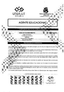 prova agente educacional legalle
