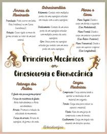 Princípios Mecânicos em Cinesiologia e Biomecânica (Mapa Mental)