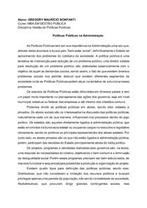 Políticas Públicas na Administração - Gestão de Políticas Públicas