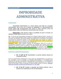 1 - IMPROBIDADE ADMINISTRATIVA