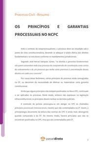 Os princípios e garantias processuais no novo CPC - Resumo