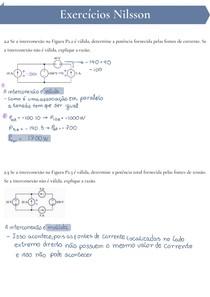 [Resolvida]Lista de Exercícios: Validação de Interconexões, Transformação de fontes e Análise de circuitos