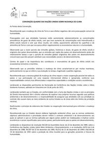 7-Convenção-Quadro das Nações Unidas Sobre Mudança do Clima