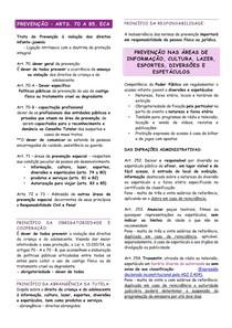 RESUMO - ECA - 04 - PREVENÇÃO NO ESTATUTO DA CRIANÇA E DO ADOLESCENTE