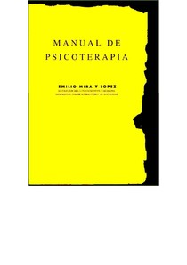 MIRA Y LOPEZ E.   Manual de Psicoterapia.