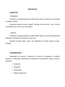 CONCEITOS EM EMERGÊNCIA