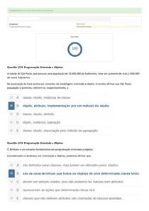 Atividade Prática  PROGRAMAÇÃO ORIENTADA A OBJETOS Nota 100   2017