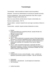 Traumatologia resumo