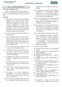 Art's 21 ao 31 e 69  70 e 71   Penal Geral