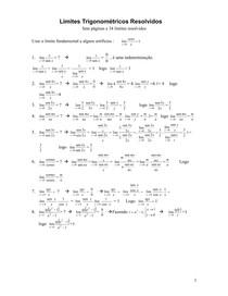 34 Exemplos Limites Trigonometricos resolvidos