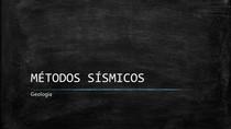 MÉTODOS SÍSMICOS