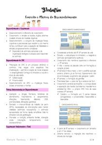 Conceitos e Marcos do Desenvolvimento - Pediatria