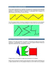 Segmentos Lineares e poligonais abertas