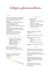 Anestesiologia - Estagios e planos anestésicos