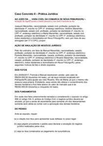 Caso Concreto 4 - AÇÃO DE ANULAÇÃO DE NEGÓCIO JURÍDICO