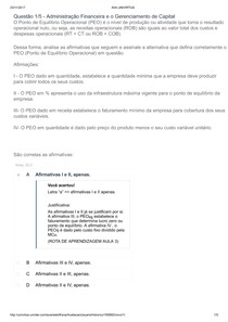 Apol 2  Gestão Orçamentaria e Administração financeira