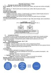 Resumo para prova 1 de Teoria Geral do Direito Penal
